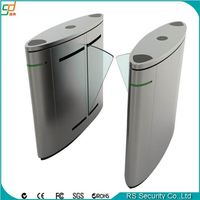 Factory price entry control fingerprint rfid flap barrier turnstile gate openers