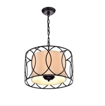 UL Approved Modern Bedroom Double Drum Pendant Lamps/Chandeliers