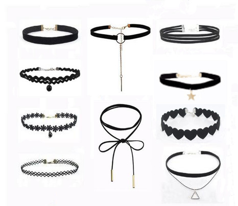 Wholesale Fashion Amazon sale necklace choker set, women popular choker necklace set