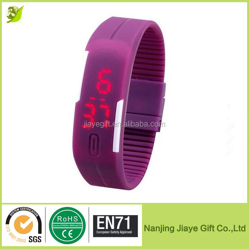 Waterproof Touch Screen Silicone Led Slap Watch