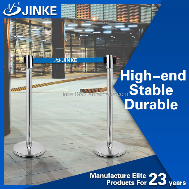 Option Color Belt Stanchions Removable Security Stainless Steel Barrier Post Bollards