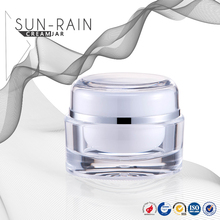15ml 30ml Cosmetic Clear Glass Empty Cream Jar with alumite cap