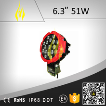 waterproof led work light 6.3 51W for off road 4x4 4WD