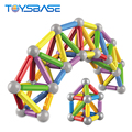 Brinquedos Educational Toy New Type Smart Builders Toy Children 3D Magic Magnet Stick Toy