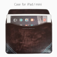 Promotional prices wholesale for apple ipad leather table case genuine leather