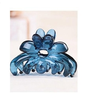 elegant korean clear Plastic Resin Hair Claw clips