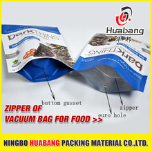 food vacuum bag zipper