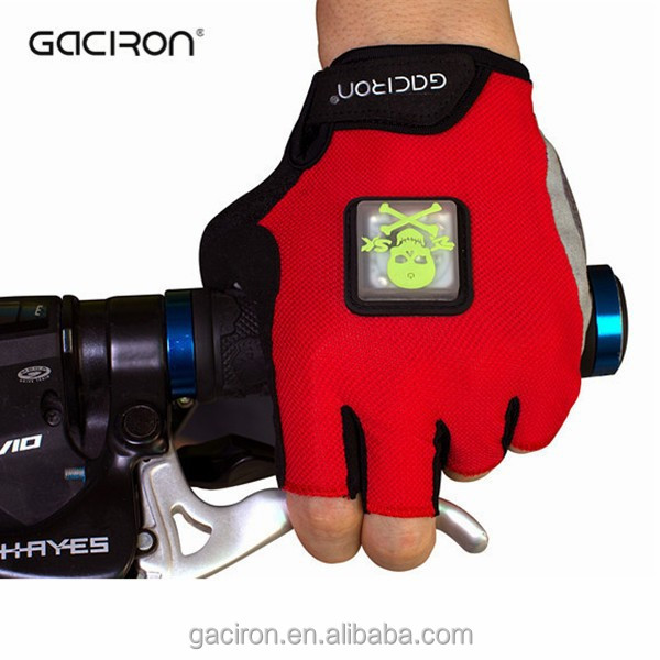 Half finger led lights bicycle gloves hands riding gloves for bikes