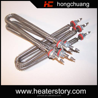 High Compressed Air Duct Electric Finned Tubular Heaters