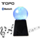 2017 colorful decorative Crystal Ball Portable Led Light Wireless TF Card Subwoofer Bluetooth Speaker
