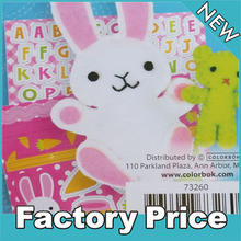 fashion fabric rabbit craft double swing for kids