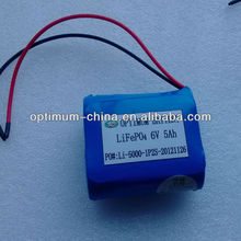Small size 6V 5AH rechargeable battery for solar lawn light