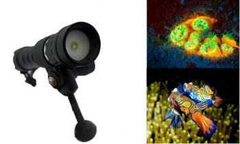 Hot small 1000 Lumens scuba underwater diving video light for Gopro