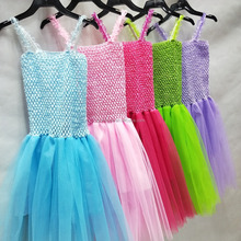 Latest Flower Girl Baby Wedding Party Layered Princess Summer Sleeveless Tutu Dress