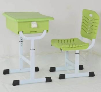Low price wholesale children study desk plastic table and chairs