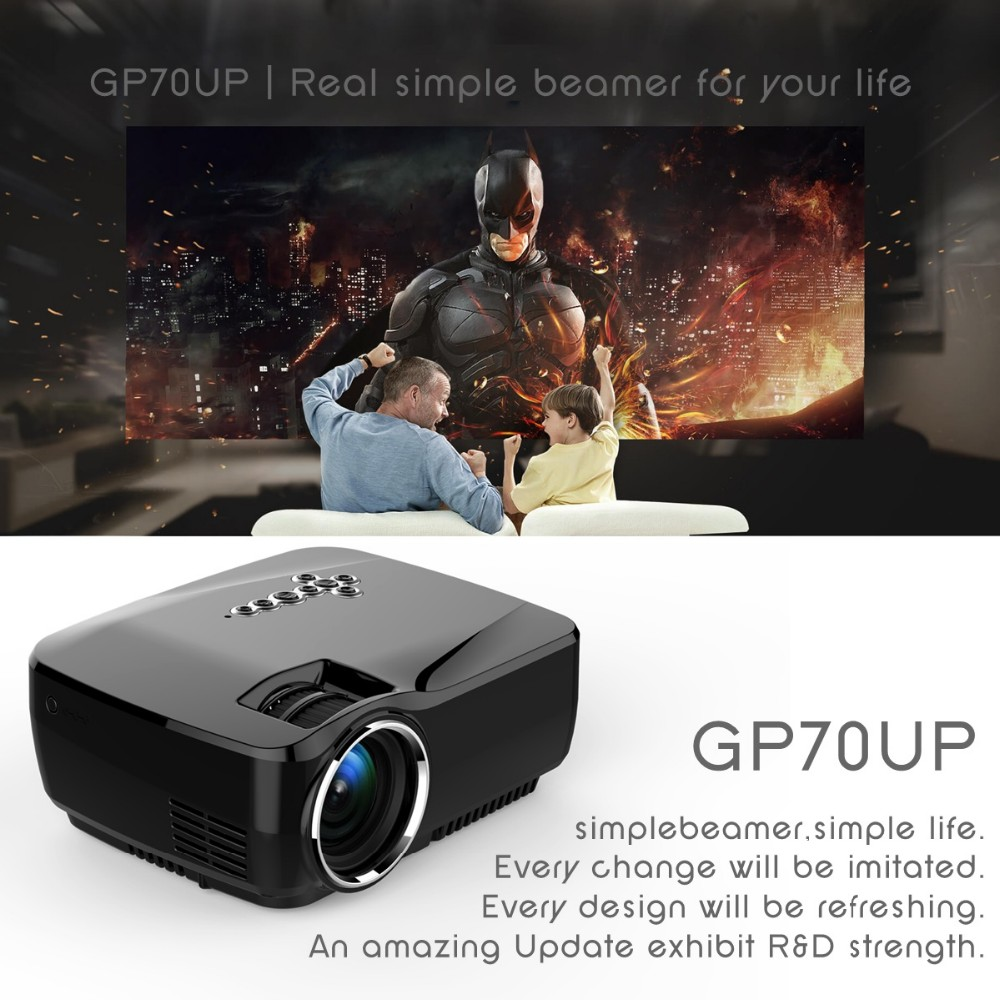 Simplebeamer GP70UP projector with led light source 20000 hours life lamp simple beamer led projector
