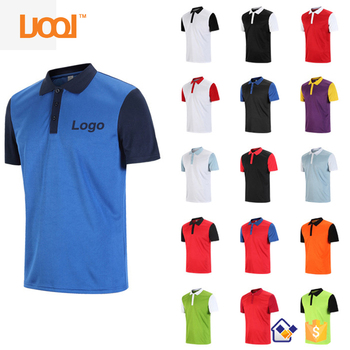 2017 Wholesale Polo Shirts High Quality 100% Polyester Dri Fit Black Golf Polo Shirt