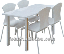 Whole White Quality Taco Bell Fast Food Restaurant Chain Furniture (FOH-RT60)