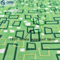 polyester tarpaulin fabric 190T waterproof ripstop fabric with pvc/pu coated for rent