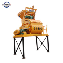Hot Sale stationary twin shaft concrete mixer machine