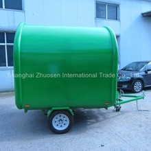 High-Tech Enclosed Stainless Steel Fiberglass Cargo Ginger Coffee Food Cart Trailers