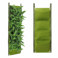4 Pockets Vertical Wall Garden Planter Recycled Materials Balcony Plant Grow Bag