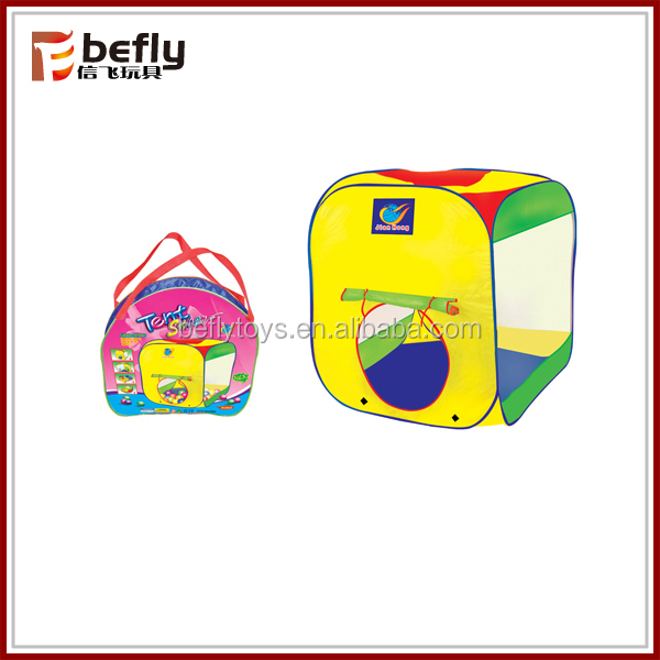 Square pop up childrens play tent