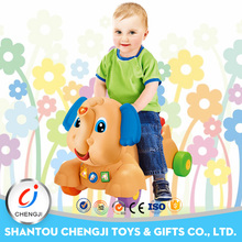 Newest elephant plastic walker battery musical push baby car