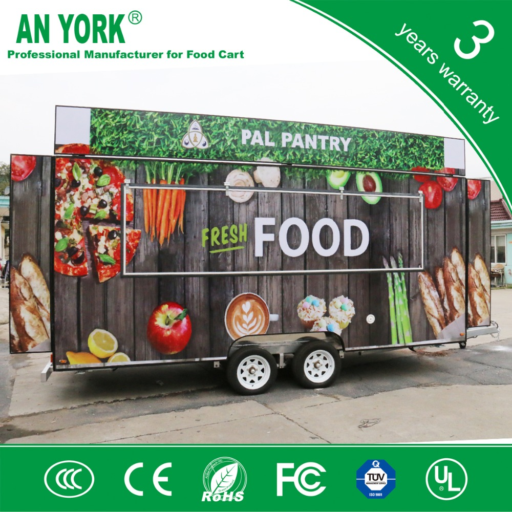 FV-55 high quality fiber glass cooking mobile food trailer