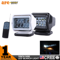 7 Inch 50W Led Off Road Searchlight Spotlight with Remote Controller for Car Lighting, Camping, Marine, Hunting