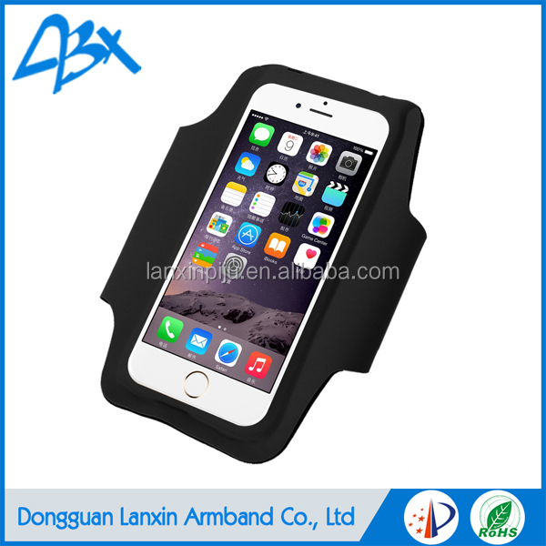 Top quality black elastic durable super slim running sports armband case for iphone 4s and iphone SE