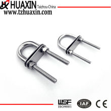 ISO9001 High Quality Exported AISI316 Stainless Steel U Bolts With Two Washers And Nuts
