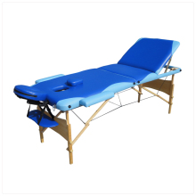 Wooden massage table with free headrest&free armrest