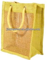 Hot sales single bottle wine jute bag for shopping and promotiom,good quality fast delivery