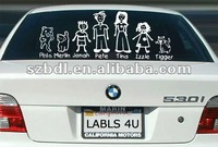 Funny family car decals