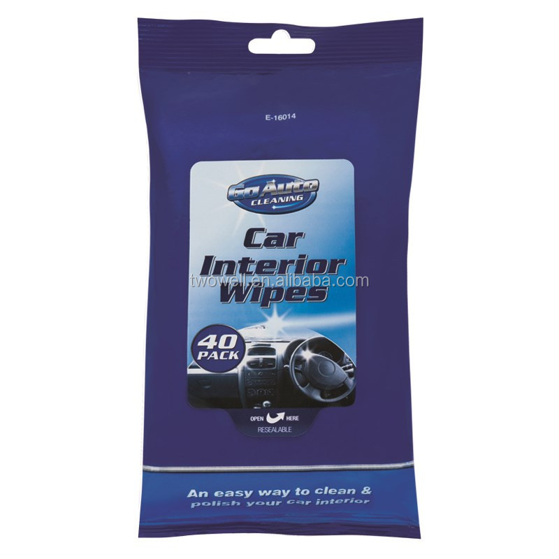 pre-moistened car interior wipes an easy way to clean and polish car