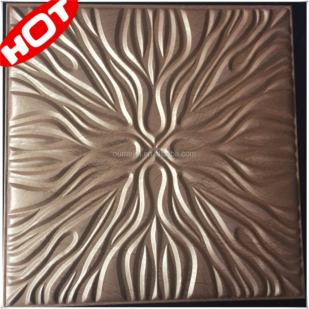 Home Decor 40*40cm 3D Leather Wall Panel PU Faux Leather Wall Panels