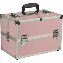 portable pink lady private label aluminium alloy cosmetic case