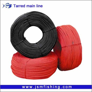 Wholesale super strong tarred longline fishing rope PE braided fishing line