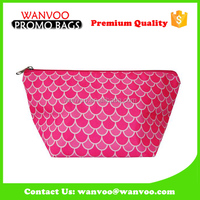 Red Round Luxury PU PVC EVA Cosmetic Bag With Zipper