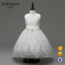 wholesale beautiful flower girl dress for girl kid baby white ball gown 15 years experience flower girls' dresses manufacturer