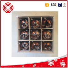 80MM COFFE COLOR HAND PAINTED PLASTIC BALL