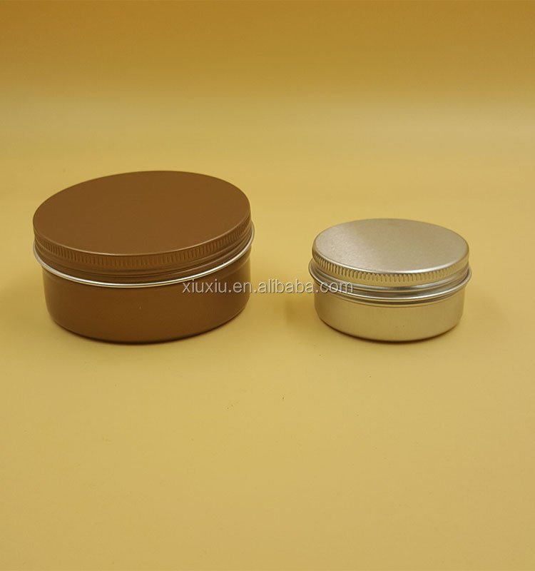 Cosmetic Sample Tins Empty Container, 15ml Round Pot Screw Cap Lid
