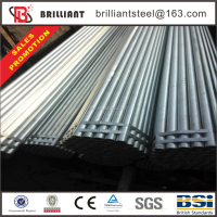 Pre painted galvanized iron pipe price/ galvanized pipe size chart