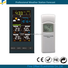 New Color display wireless weather forecast station with outdoor thermometer