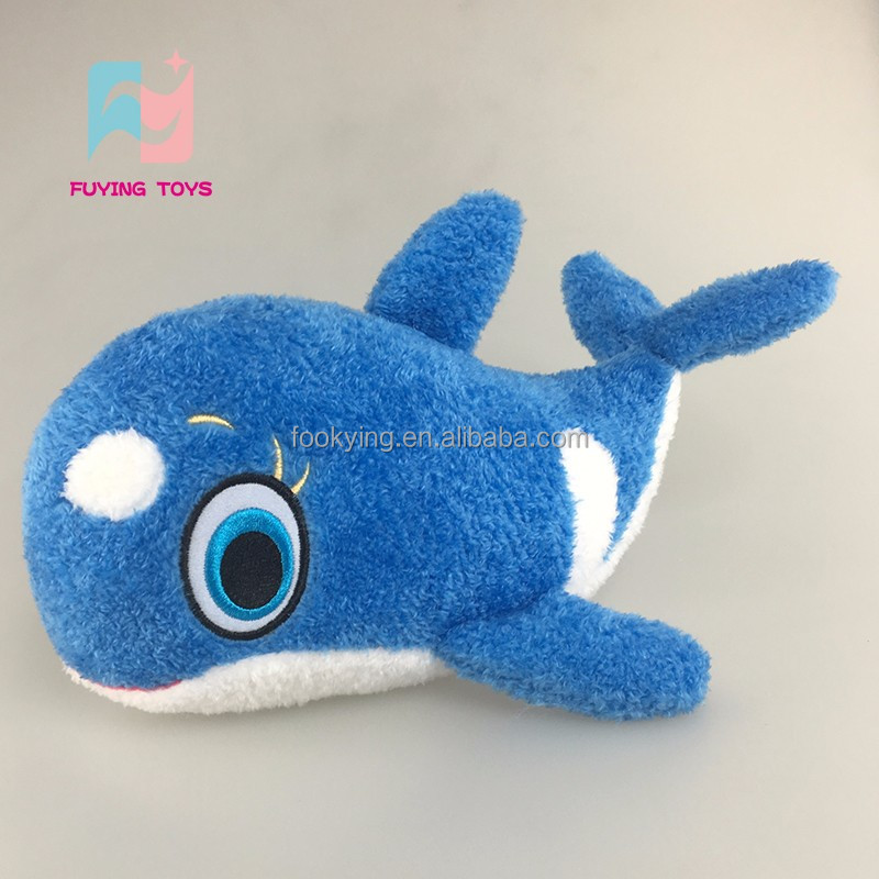 2016 new fashion style soft clever whale plush toys