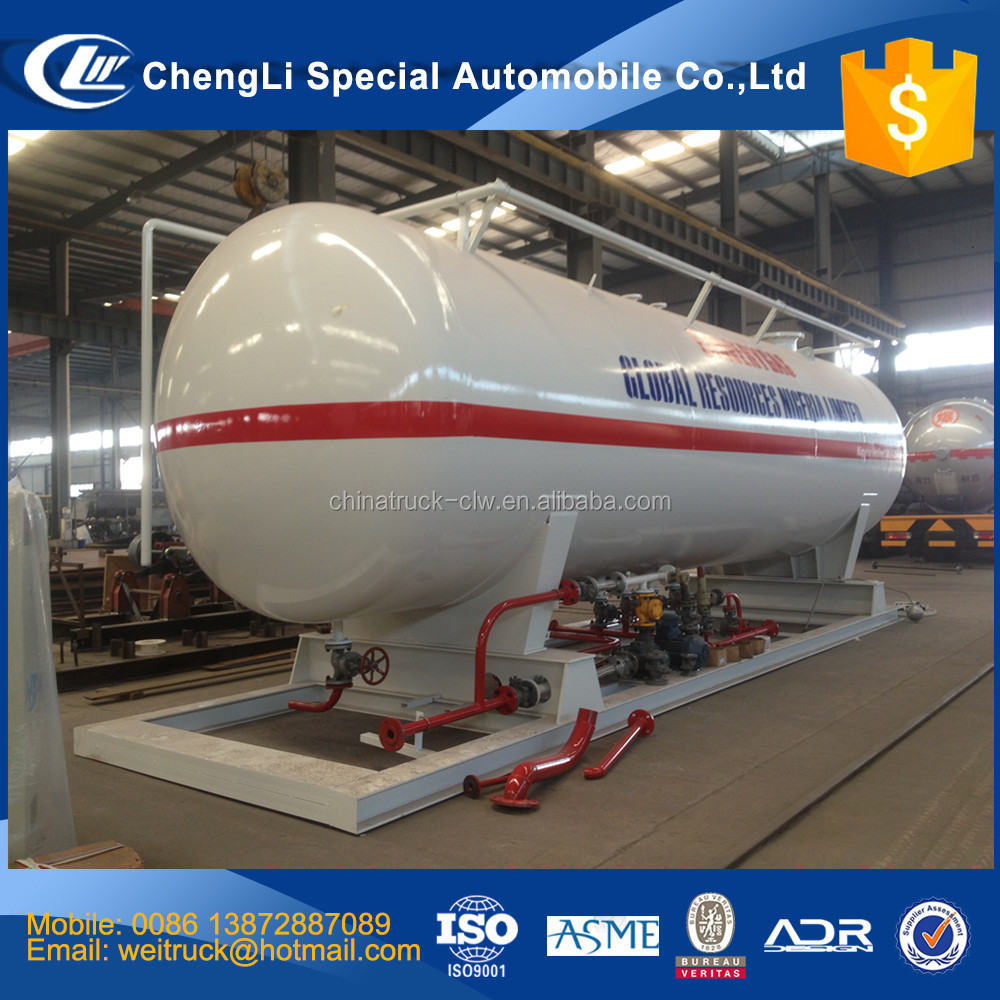 clw 2.5 tons 5 tons 7.5 tons 10 tons liquid ammonia gas station for hot sale, lpg tank, propane gas dispenser
