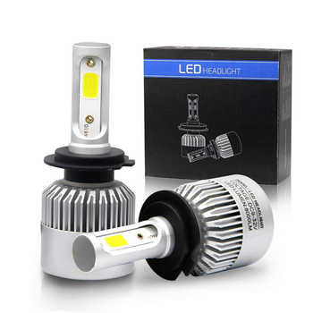 Super Bright S2 Led Headlight 36W 4000LM COB chips H1 H4 H7 H11 9005 9006  for Auto cars