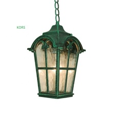 outdoor pendant lamp gorgeous water green colored exterior hanging chain light lighting
