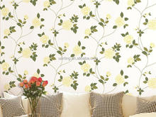 2015 hot embossed spring nonwoven decorative room wallpaper